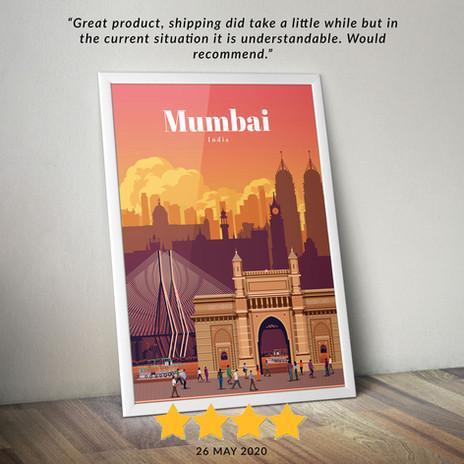 Mumbai travel poster
