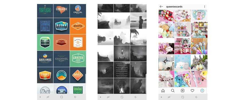 Instagram feeds @eimandesignco    @minipeopleinthejungle    @queeniescards