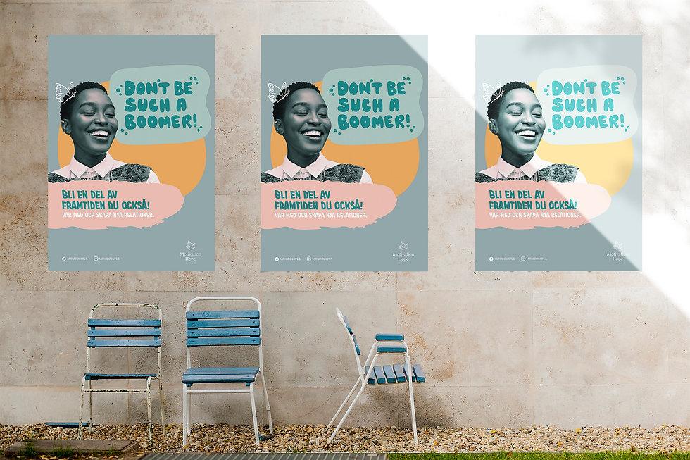 Tre affischer för kampanjen Don´t be such a boomer