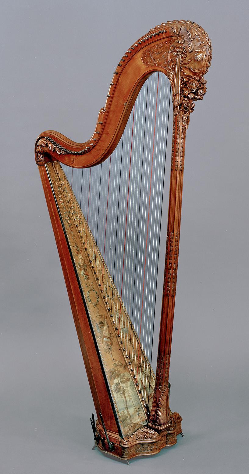 Harpe d'époque louis XVI par Henri Nardermann Etiquette de Nadermann Luthier de la reine, 1793
