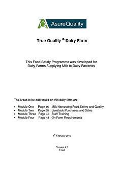 True Quality Dairy Farm Manual
