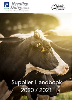Kyvalley Dairy Group | Supplier Handbook