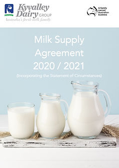 Kyvalley Dairy Group | Milk Supply Agreement