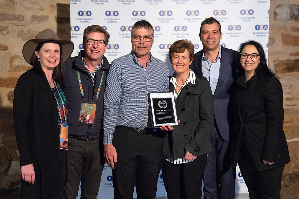 Kyvalley Dairy accept award at Telgraph Station, Alice Springs