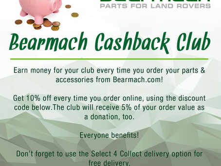 Discount for Club Members at Bearmach...