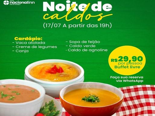 Hotel Nacional Inn promove Noite de Caldos, hoje em Foz