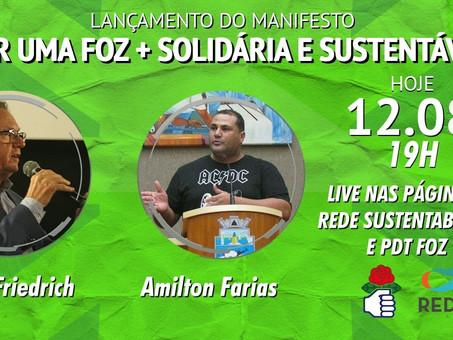 POR UMA FOZ + SOLIDÁRIA E SUSTENTÁVELPDT e REDE anunciam aliança para eleição de 2020 em Foz
