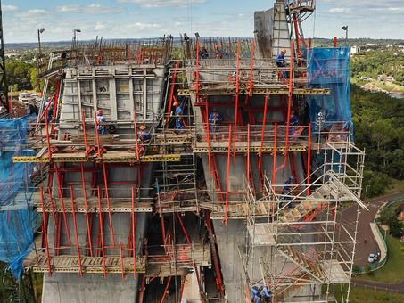 Segunda ponte sobre o Rio Paraná, financiada por Itaipu, avança para 57% de execução