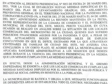 Comércio de CDE poderá abrir na Semana Santa, mesmo com o lockdown no Paraguai