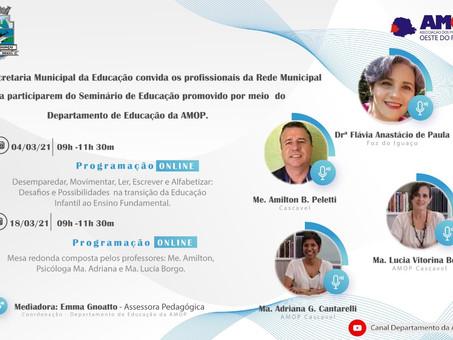 Formação continuada: Profissionais da educação de Foz participam de seminário on-line