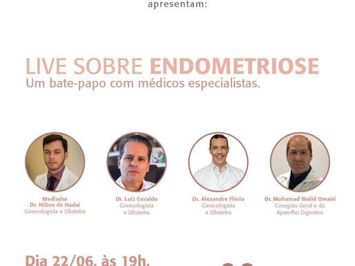 Especialistas falarão sobre a endometriose em live do Hospital Costa Cavalcanti e Itamed