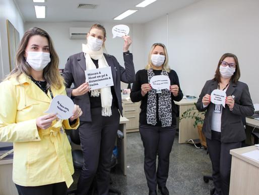 Hospital Costa Cavalcanti participam de campanha para reforçar os cuidados contra a covid-19