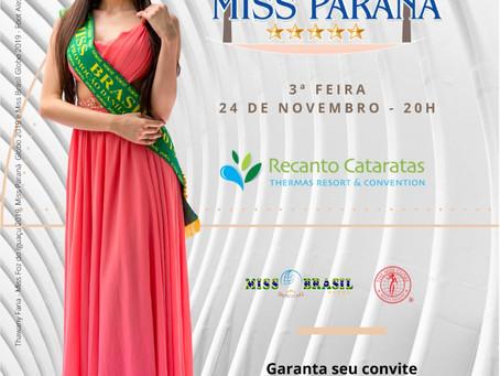 Miss Paraná Globo 2020 será realizado em Foz