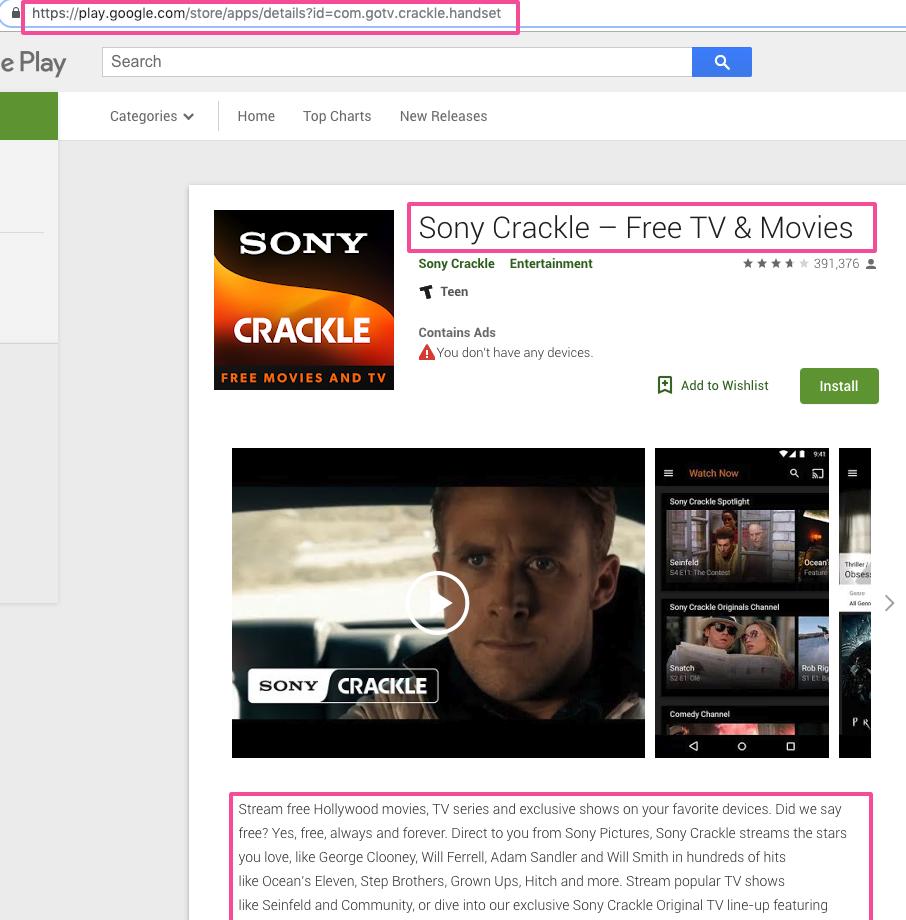Google Play App Store SEO for OTT Providers