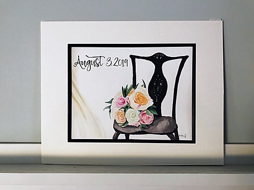 Bridal Bouquet Painting From The Bride's Photo Shoot