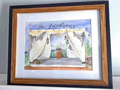 Wedding Venue Customized Art, Painted customized original art of your wedding's
