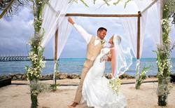 Bride and groom Beach