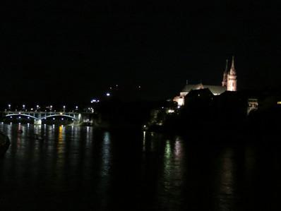 Muenster on the Rhein at Night