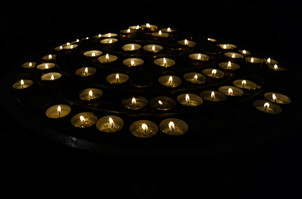 Votive Candles at St Patrick's Cathedral - September, 2013