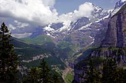 Swiss Mountain Village View