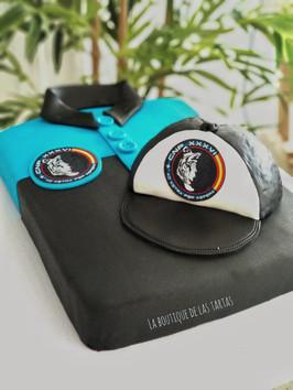 tarta camiseta con gorra