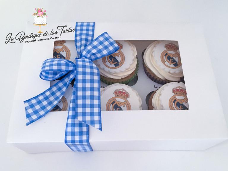 caja cupcakes real madrid