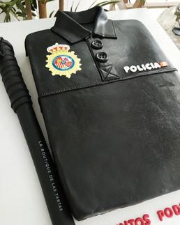 tarta camiseta policia