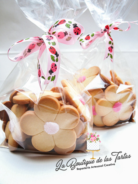 bolsitas de galletas flor