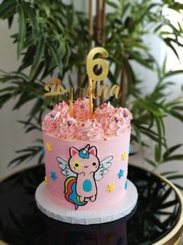 tarta gatito unicornio