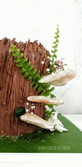 detalle tarta tronco