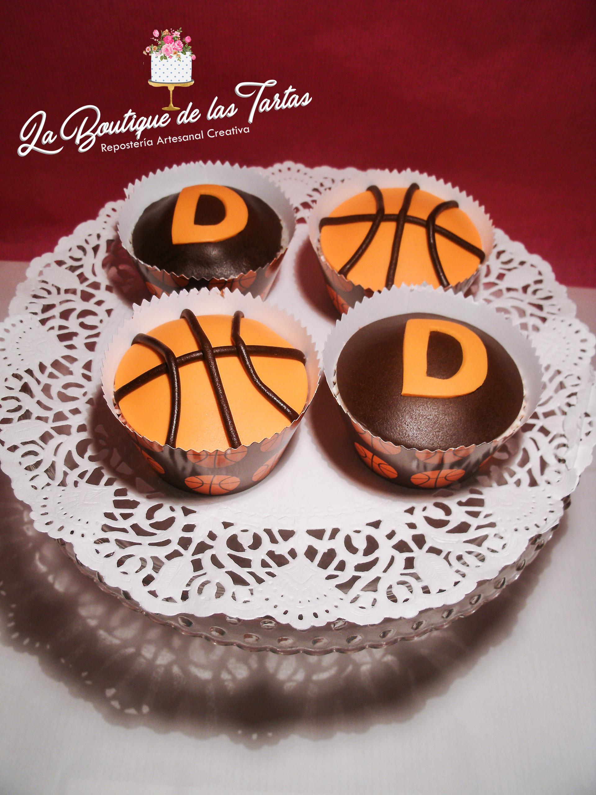 cupcakes personalizados baloncesto