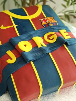 tarta camiseta barça