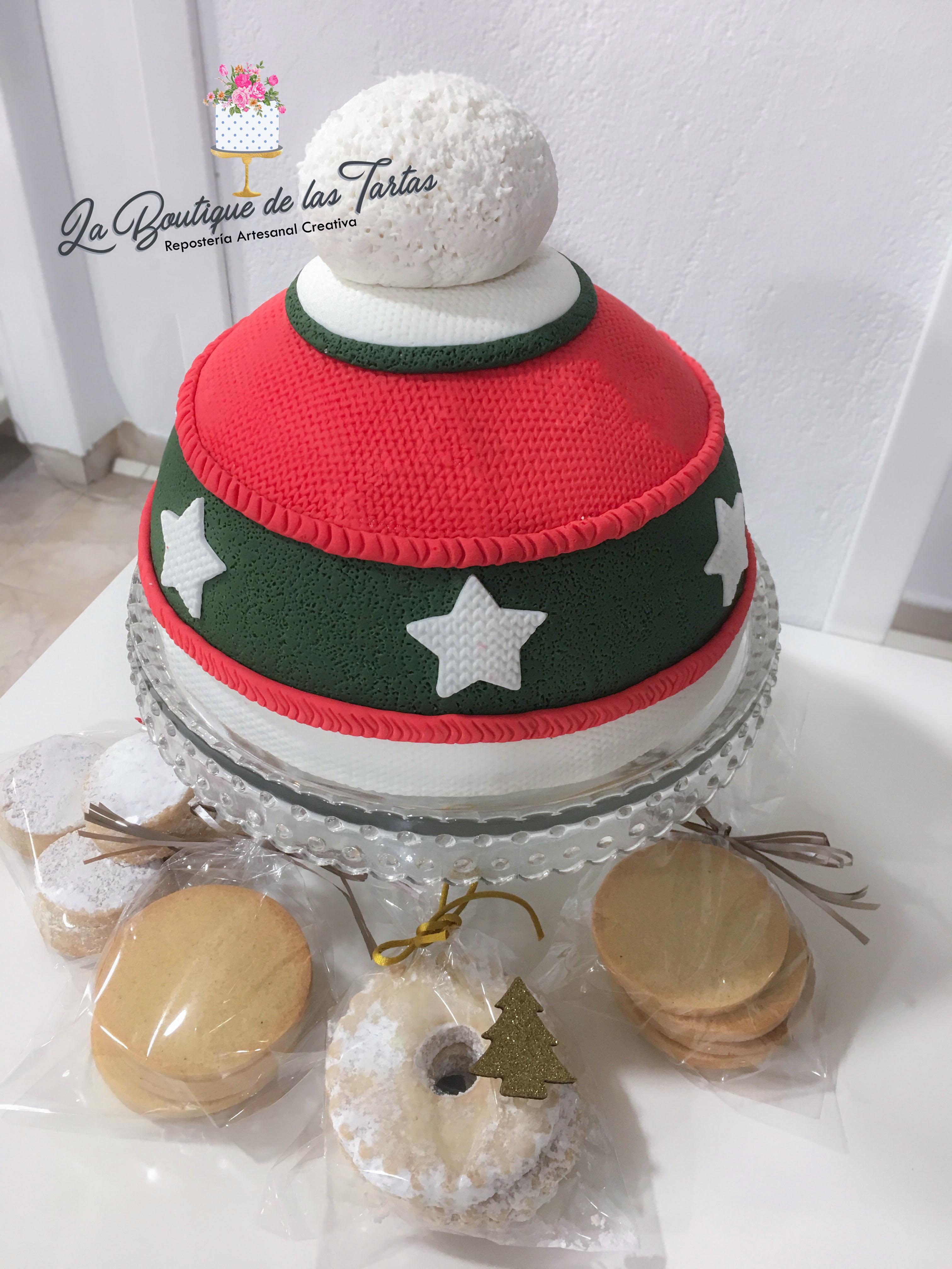 tarta gorro navidad