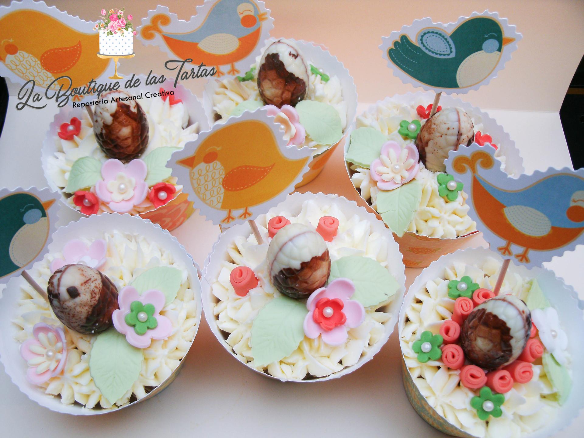 cuapcakes decorados pascua