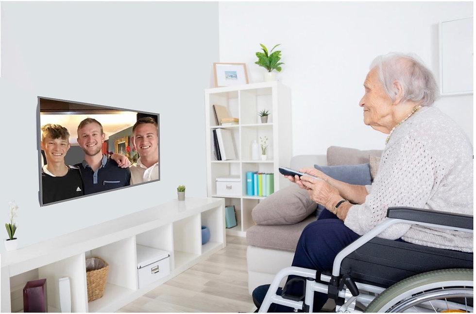 old woman watching TV lozer boys.jpg