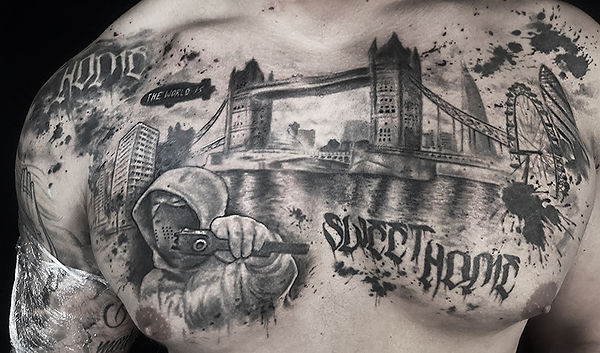 london chest tattoo