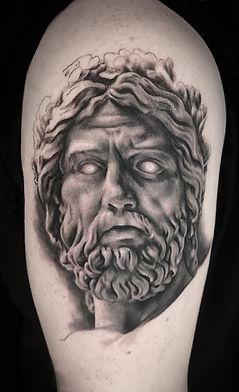 realistic statue tatoo