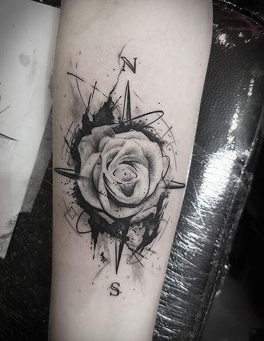 flower and ink tattoo