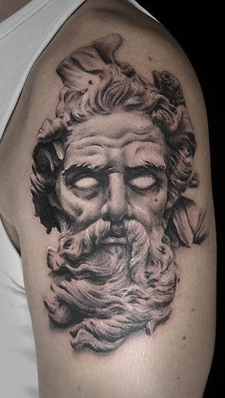 Neptue tattoo work in progress