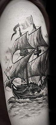 galleon ship tattoo