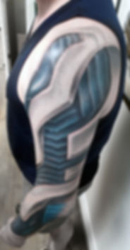 realistic biomechanics tattoo
