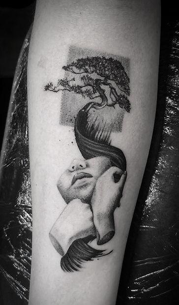 dotwork organica tattoo