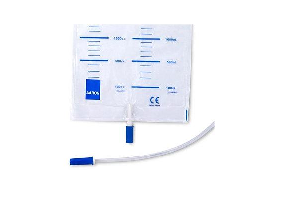 - Sacos de Urina 2,0L C/ Válvula Anti-Retorno Disp. Saída