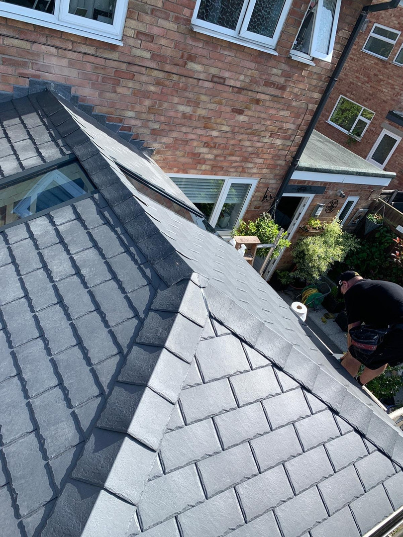 External view of Tapco Slate Conversion with Icoview Panels