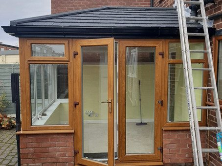 Ebony Metrotile Icotherm Tiled & Insulated Conservatory Roof In Failsworth, Manchester
