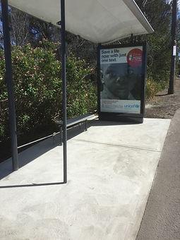 Bus shelter installation