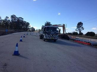 Road work setup_