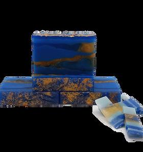 """Χειροποίητο σαπούνι γλυκερίνης, Ναύπλιο, Τοπικά Προϊόντα - Handcrafted glycerin soap """"Blue Royal"""", Nafplio Local products"""
