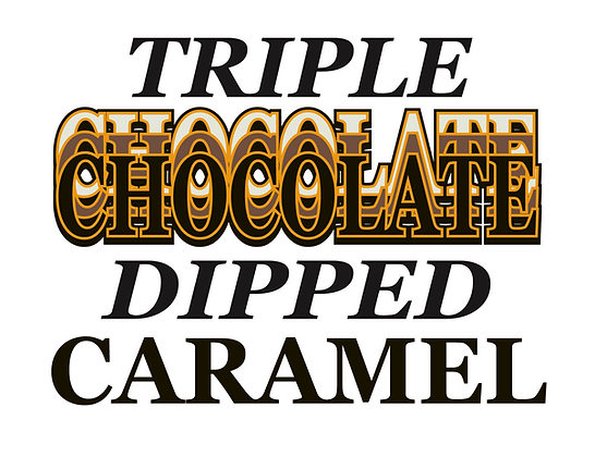 Triple Dipped Chocolate Caramel