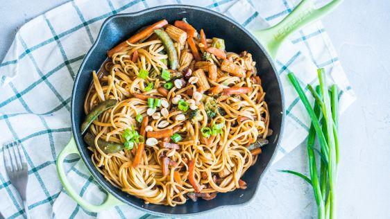Thai Noodles with Spicy Peanut Sauce | April 2021